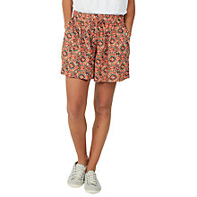 Buy Fat Face Jewel Geo Print Flippy Shorts, Ginger Online at johnlewis.com