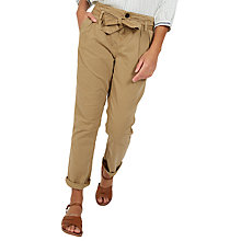Buy Fat Face Tie Waist Tapered Trousers Online at johnlewis.com