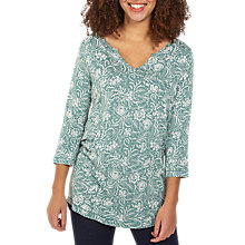 Buy Fat Face Abelia Floral Top, Ocean Surf Online at johnlewis.com