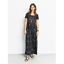 Buy hush Marble Print Jersey Dress, Black Online at johnlewis.com