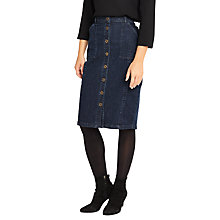 Buy Phase Eight Button Through Denim Skirt, Denim Online at johnlewis.com