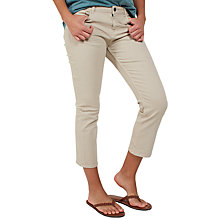 Buy Fat Face Garment Dye Cropped Jeans, Sandstone Online at johnlewis.com