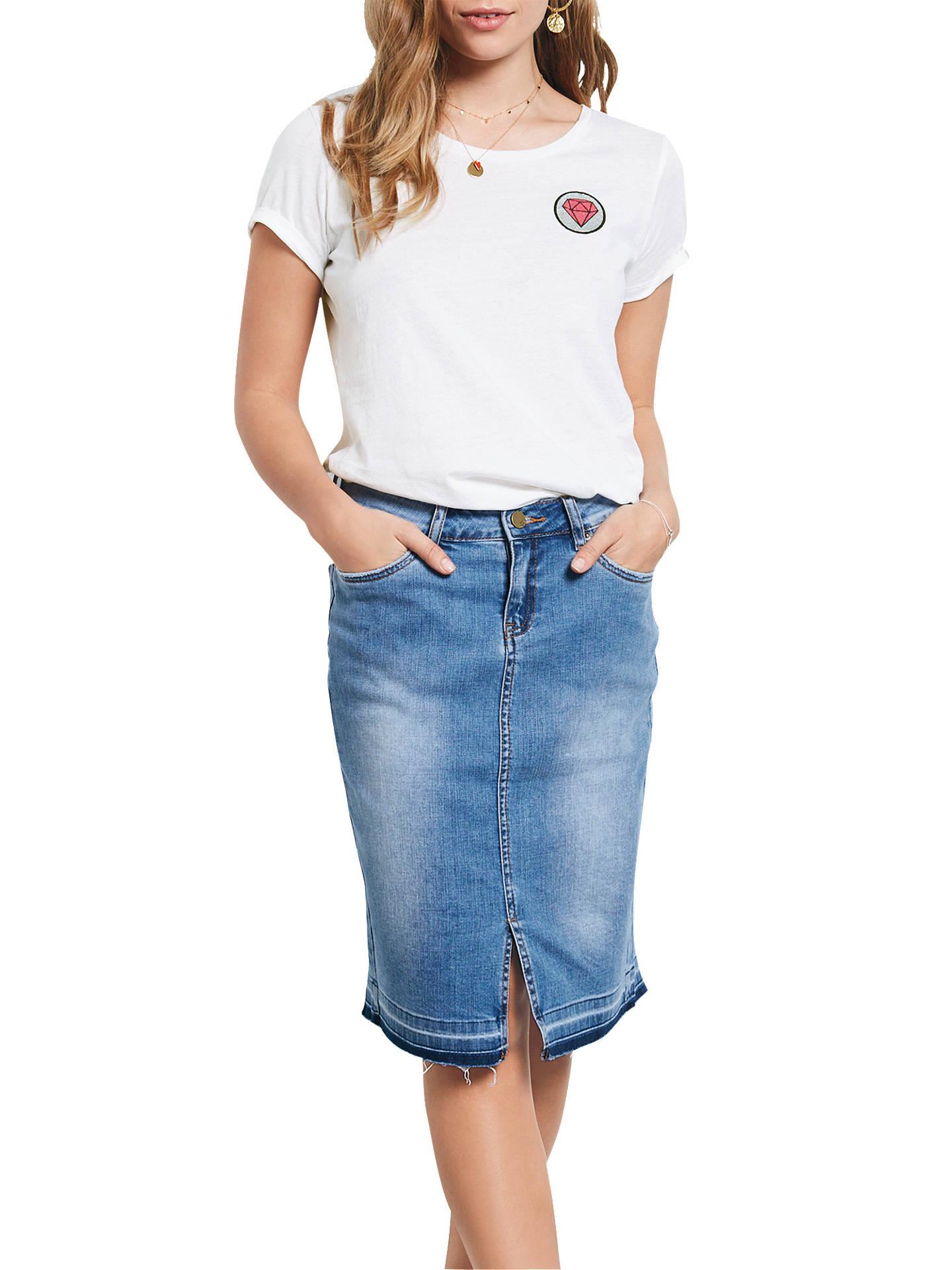 1fa66cfb8c Buy hush Denim Pencil Skirt, Denim, 6 Online at johnlewis.com ...