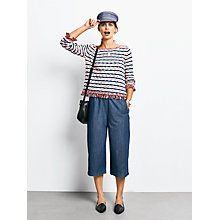 Buy hush Chambray Culottes, Blue Online at johnlewis.com