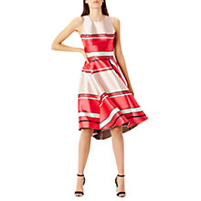 Buy Coast Bayshore Stripe Short Length Dress, Pink Online at johnlewis.com
