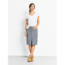 Buy hush Andalusia Pencil Skirt, Blue/White Online at johnlewis.com
