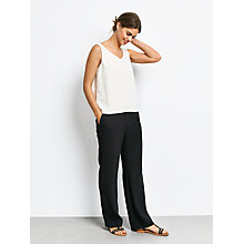 Buy hush Wide Leg Trousers, Black Online at johnlewis.com