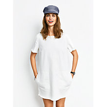 Buy hush Frayed Denim Dress, White Online at johnlewis.com