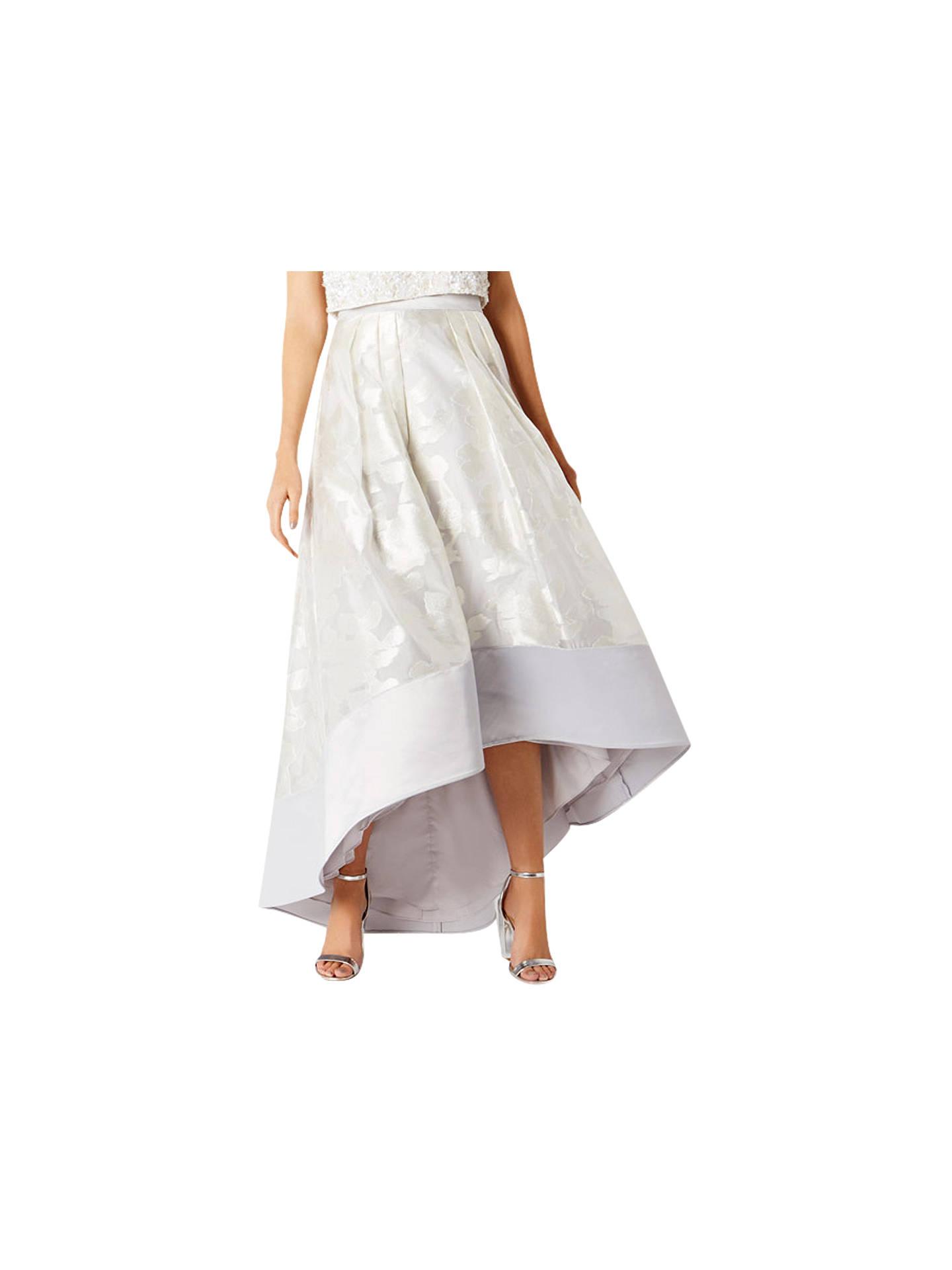 514815ef5 Buy Coast Flower Rhian Skirt, Silver, 6 Online at johnlewis.com