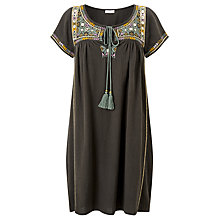 Buy Star Mela Samta Embroidered Dress, Charcoal/Multi Online at johnlewis.com