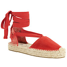Buy Soludos Gladiator Flatform Sandals, Red Online at johnlewis.com