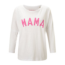 Buy Selfish Mother Mama 3/4 Length Sleeve T-Shirt, White/Neon Pink Online at johnlewis.com