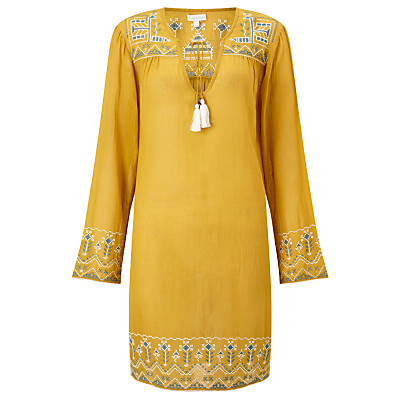 Product photo of Star mela amla embroidered kaftan mustard