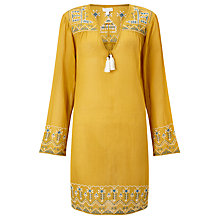 Buy Star Mela Amla Embroidered Kaftan, Mustard Online at johnlewis.com
