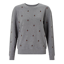 Buy Barbour Heritage Bee Sweatshirt, Grey Marl Online at johnlewis.com
