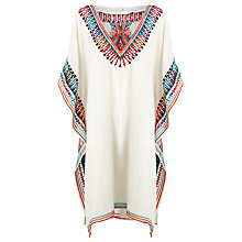 Buy Star Mela Anika Embroidered Kaftan, Ivory/Multi Online at johnlewis.com