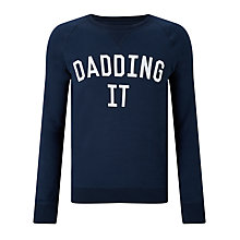 Buy Selfish Mother Dadding It Sweatshirt, Navy/White Online at johnlewis.com