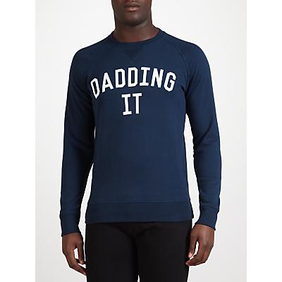 Selfish Mother Dadding It Sweatshirt, Navy/White
