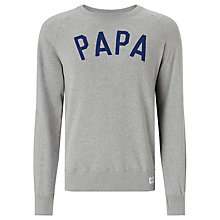 Buy Selfish Mother Papa Sweatshirt, Grey/Navy Online at johnlewis.com