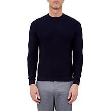 Buy Ted Baker T for Tall Marlntt Textured Crew Neck Jumper, Navy Online at johnlewis.com