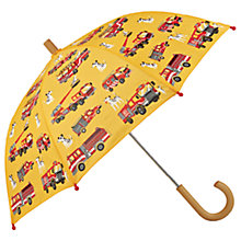 Buy Hatley Children's Fire Trucks Print Umbrella, Yellow Online at johnlewis.com