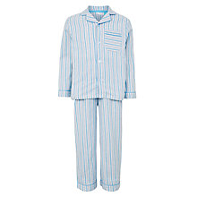 Buy John Lewis Children's Traditional Stripe Pyjamas, Blue Online at johnlewis.com
