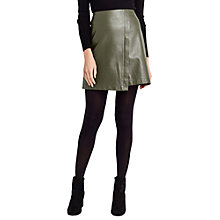 Buy Oasis Faux Leather Wrap Skirt Online at johnlewis.com