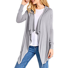 Buy Oasis Fine Draped Cardigan, Soft Grey Online at johnlewis.com