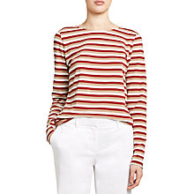 Buy Winser London Cotton Stripe T-Shirt, Multi Online at johnlewis.com