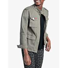 Buy hush Military Jacket, Khaki Online at johnlewis.com
