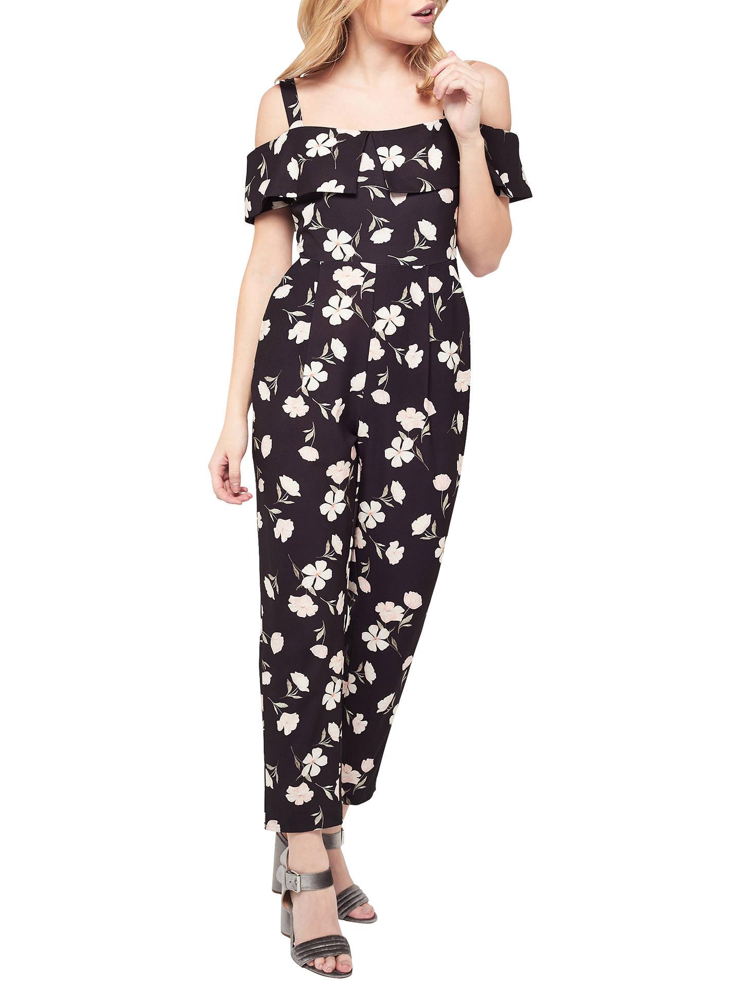 513e86085ee Buy Miss Selfridge Petite Bardot Floral Print Jumpsuit