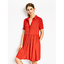 Buy hush Evangeline Dress, Star Print Racing Red/White Online at johnlewis.com