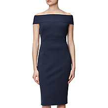 Buy Adrianna Papell Off Shoulder Fitted Dress, Blue Moon Online at johnlewis.com