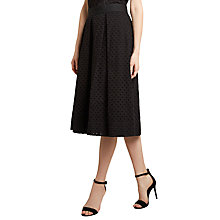 Buy Winser London Broderie Anglaise Full Skirt, Black Online at johnlewis.com