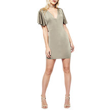 Buy Miss Selfridge Petite Twist Back Dress, Olive Online at johnlewis.com