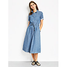 Buy hush Nicole Chambray Dress, Blue Online at johnlewis.com