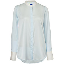 Buy Winser London Silk Striped Shirt, Chambray Stripe Online at johnlewis.com