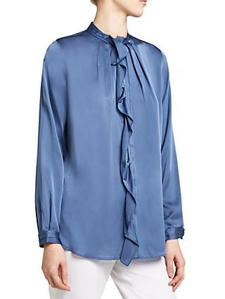 a55788eaaa2bf4 Winser London Silk Ruffle Shirt