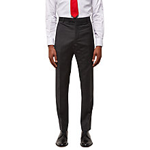 Buy Jaeger Wool Puppytooth Slim Fit Suit Trousers, Charcoal Online at johnlewis.com