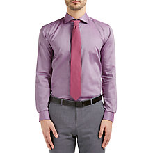 Buy HUGO by Hugo Boss C-Jason Textured Cotton Slim Fit Shirt, Medium Purple Online at johnlewis.com