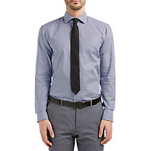 Buy HUGO by Hugo Boss C-Gordon Houndstooth Regular Fit Shirt, Medium Blue Online at johnlewis.com
