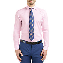 Buy HUGO by Hugo Boss C-Jason Slim Fit Shirt, Light Pink Online at johnlewis.com