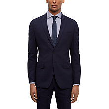 Buy Jaeger Wool Shadow Check Slim Fit Suit Jacket, Navy Online at johnlewis.com