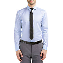 Buy HUGO by Hugo Boss C-Jimmy Cotton Twill Slim Fit Shirt, Light Blue Online at johnlewis.com
