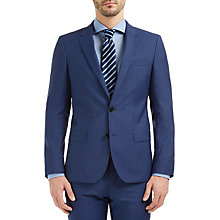 Buy HUGO by Hugo Boss C-Huge Virgin Wool Pindot Weave Suit Jacket, Bright Blue Online at johnlewis.com