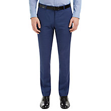 Buy HUGO by Hugo Boss C-Genius Virgin Wool Pindot Weave Suit Trousers, Bright Blue Online at johnlewis.com