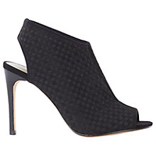Buy Karen Millen Elastic Woven Stiletto Sandals, Black Online at johnlewis.com