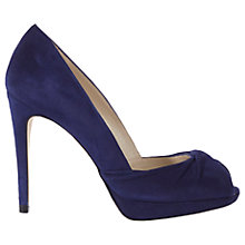 Buy Karen Millen Twist Peep Toe Stiletto Sandals, Dark Blue Online at johnlewis.com