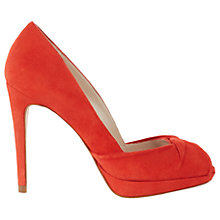 Buy Karen Millen Twist Peep Toe Stiletto Sandals, Orange Online at johnlewis.com
