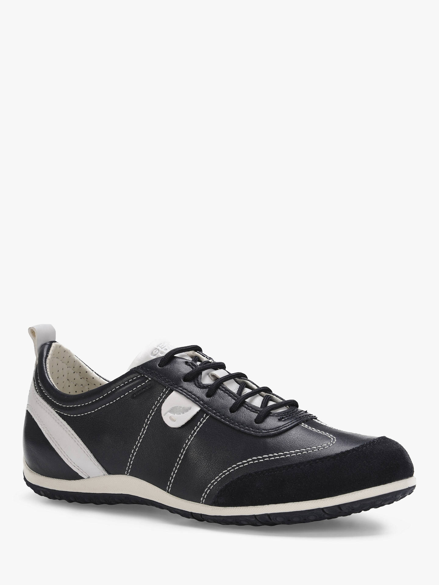 Buy Geox Women's Vega Leather Lace Up Trainers, Navy, 6 Online at johnlewis.com